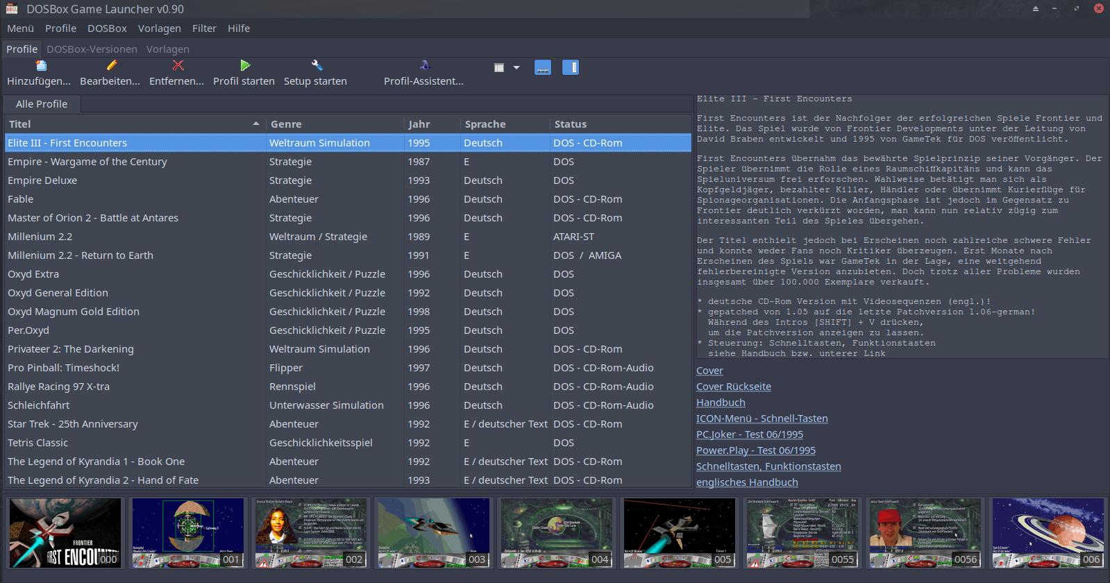 DOSBox Game Launcher